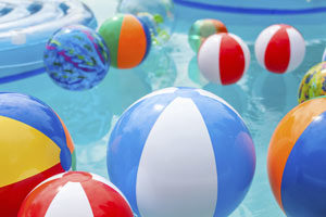 Winterized pool and inflatable toys