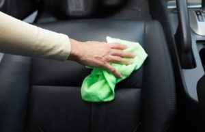 Cleaning car leather