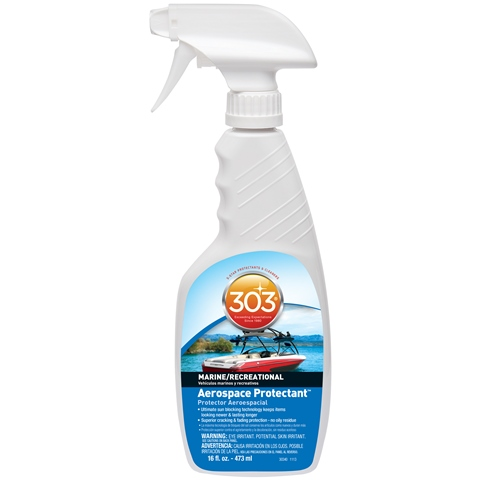303 Aerospace Protectant can help you protect all kinds of boat vinyl, including vinyl seats & more!