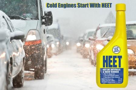 Cold Engines Start with HEET