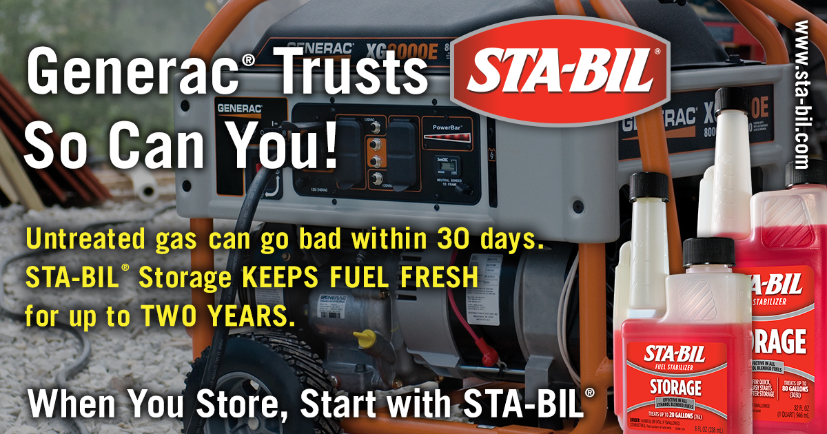 STA-BIL Generac OEM Endorsement