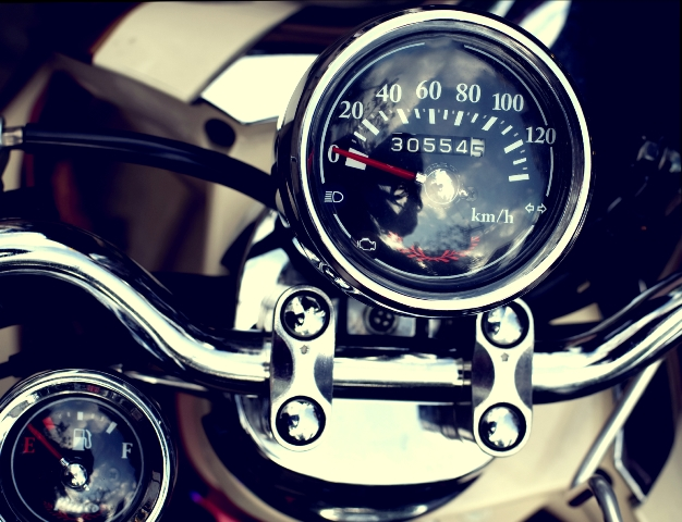 Pay special attention to your dash while detailing your motorcycle.