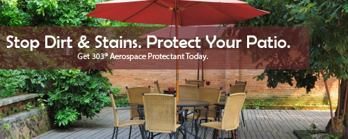 303 Protects Patios, Pools and Cars Against Stains, Dirt, Mold and UV Rays