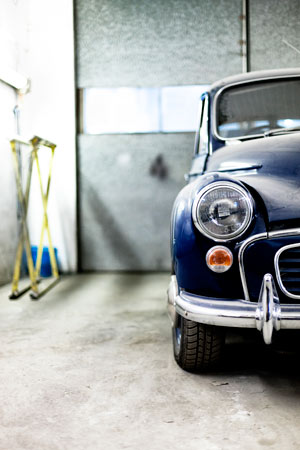 Protect your collector's car while in storage