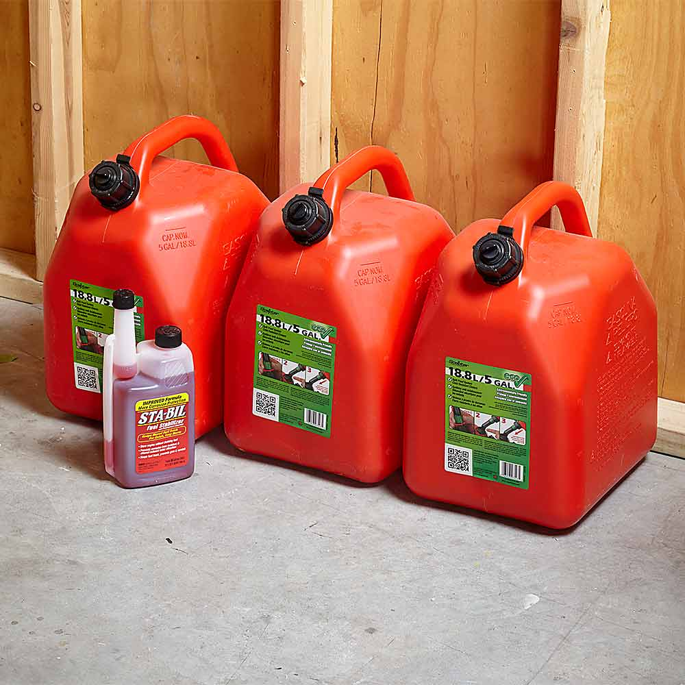 store your gas with fuel stabilizer