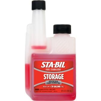 Make sure to add STA-BIL Fuel Stabilizer to your fuel when you are storing your car for a long period of time.