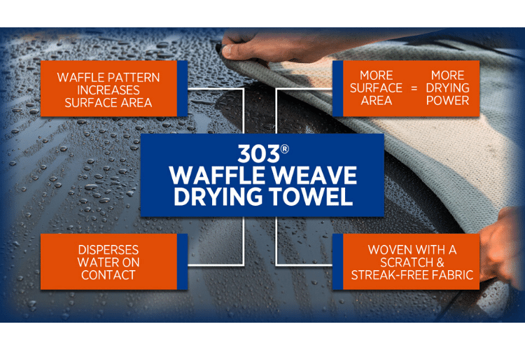 39015 303 waffle weave drying towel infographic min