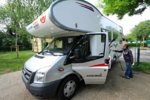 The first step in rv preventative maintenance is to wash the exterior surface of the RV.