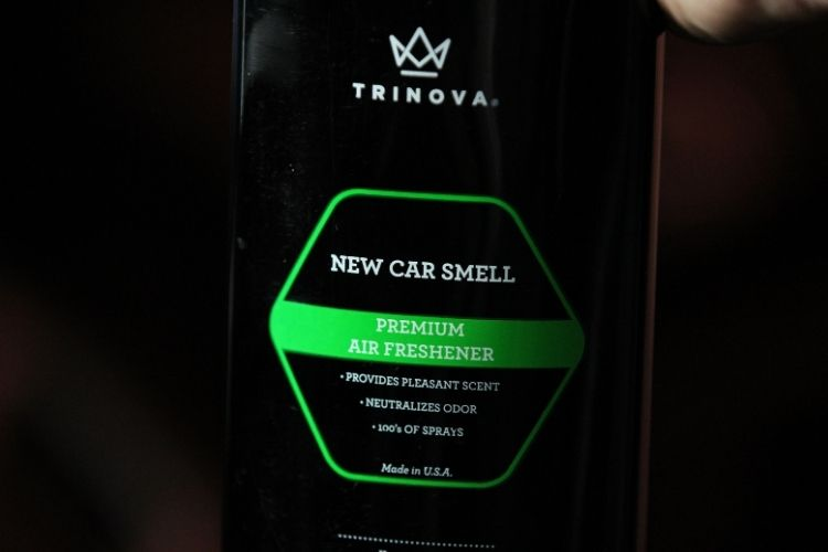 33537 trinova new car smell label up close min