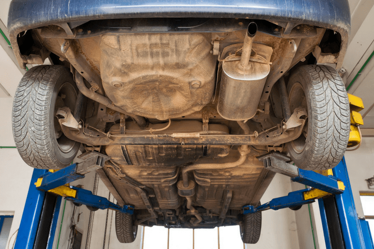Keep your car's undercarriage cleaner by giving it a good wash at the end of winter.