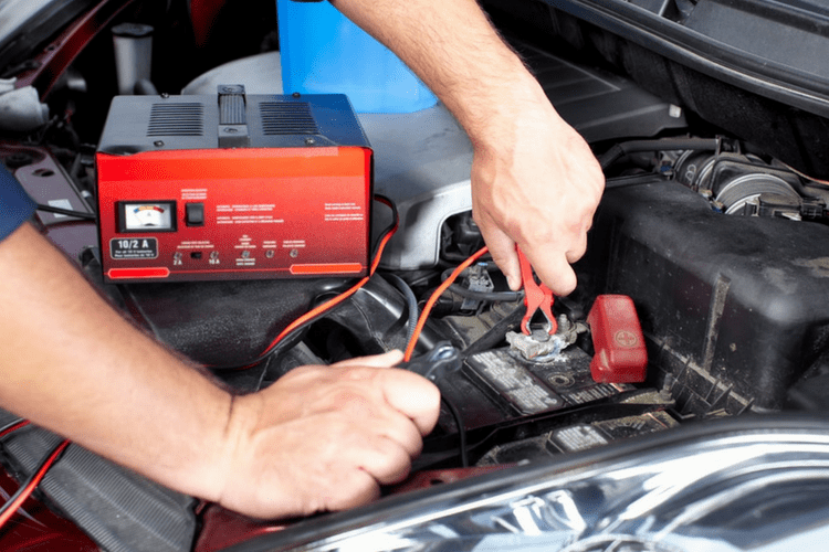Using a battery tender or maintainer on your car while it's in storage could save you from having to replace the battery.