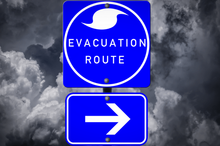 Know your route for a potential evacuation.