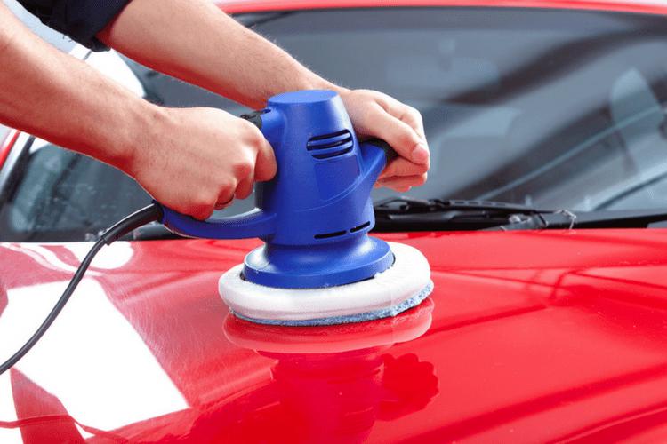 how to use a car polisher buffer