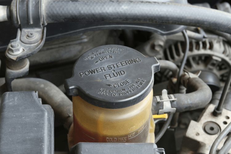 Car experts recommend a power steering fluid change at about 60,000 miles.