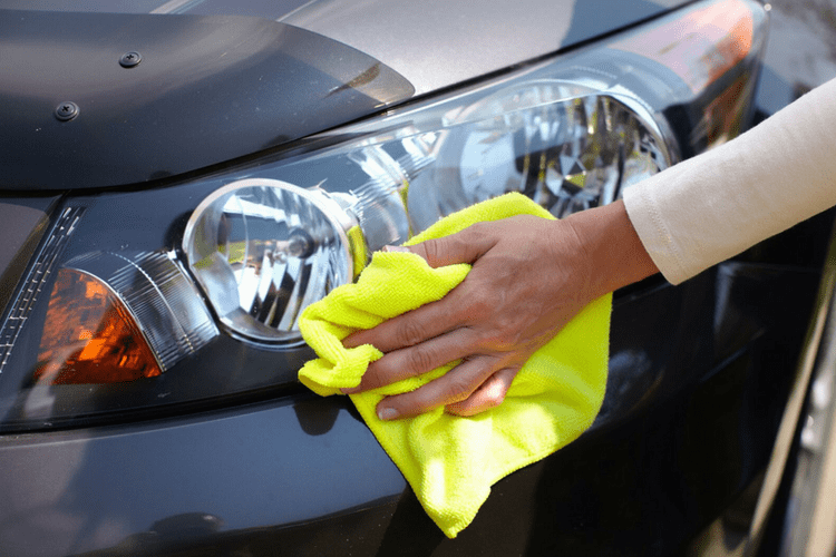 Using a microfiber on your car can help it dry faster and will prevent scratches.