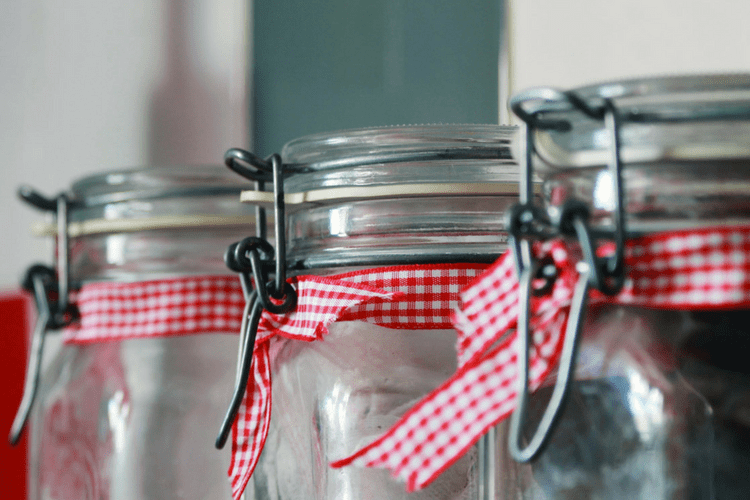 Jars to put the homemade air freshener in.