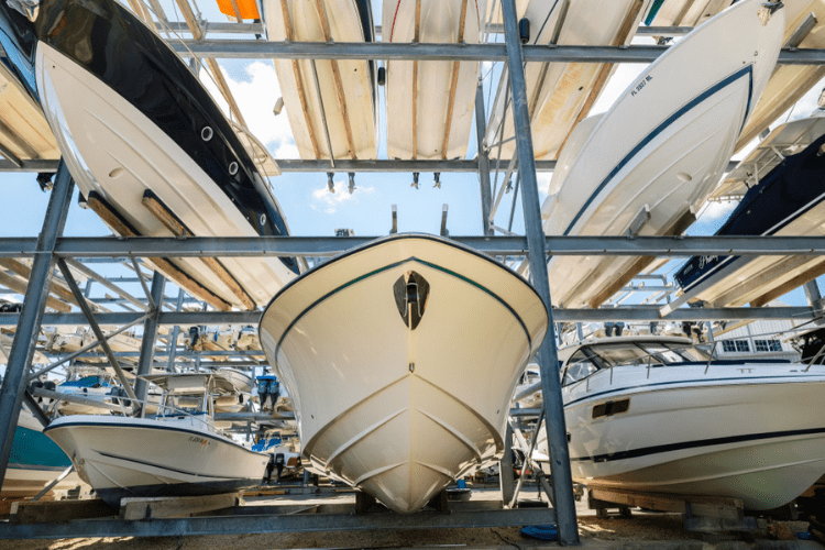Keep your boat winterized and ready to go for next spring by storing it in a dry location.