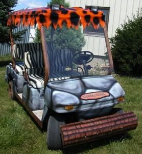 flinstones-golf-cart