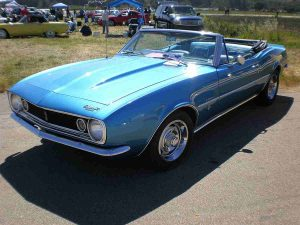 1967_blue_Chevrolet_Camaro_convertible