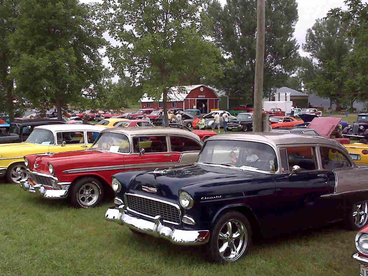 Cars Displayed at a Car Show