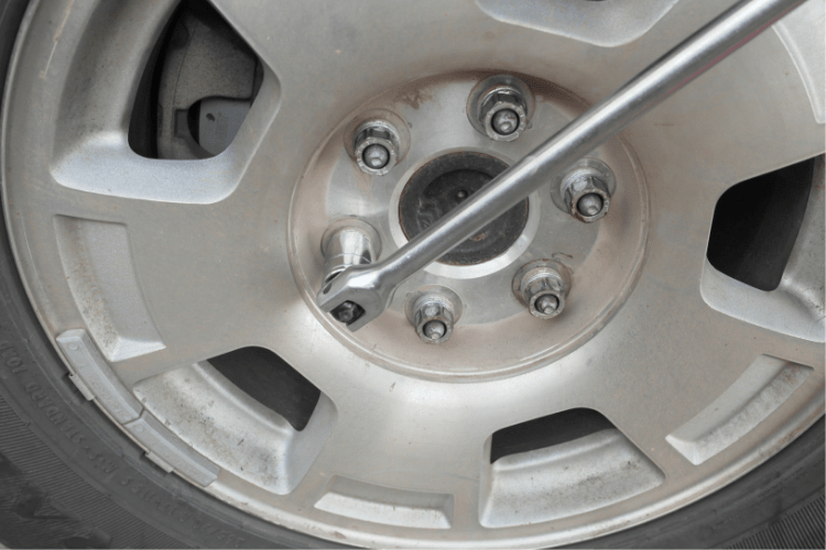 With the job done, don't forget to torque the lug nuts with the wheels on the ground. This is very important because you don't want the wheel coming loose while driving.