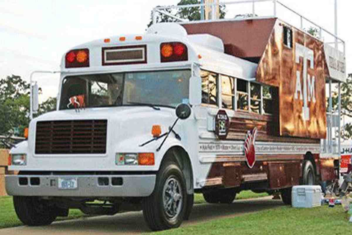 Texas A&M Party Bus 12