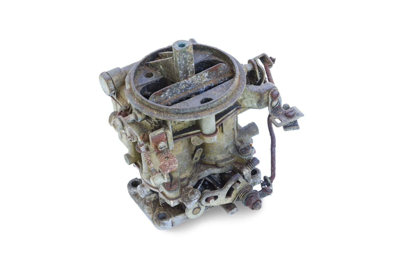 old rusted carburetor