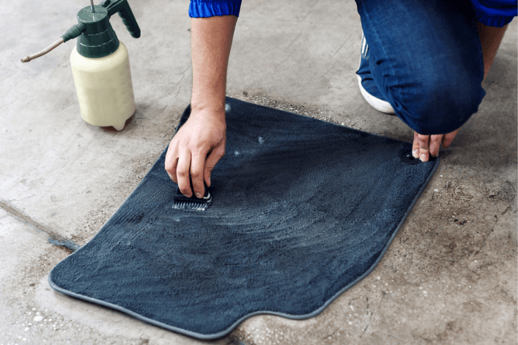 Here's how to wash your car's floor mats.