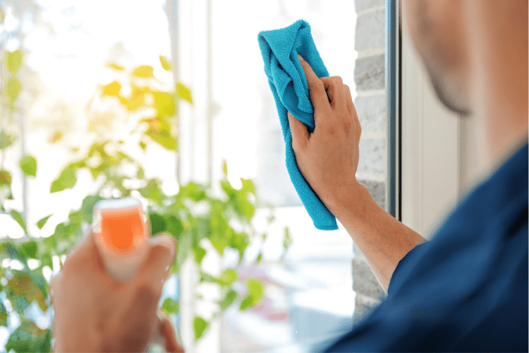 If you have any glass surfaces around the house, microfiber is the perfect material for getting them clean.