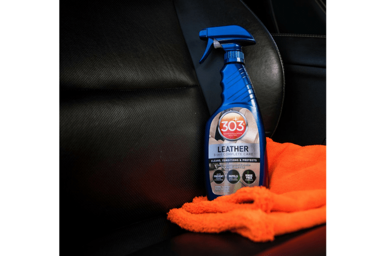 If you want a chance to clean your car less frequently without sacrificing cleanliness, you'll love using 303 Automotive Leather 3-in-1 Complete Care.