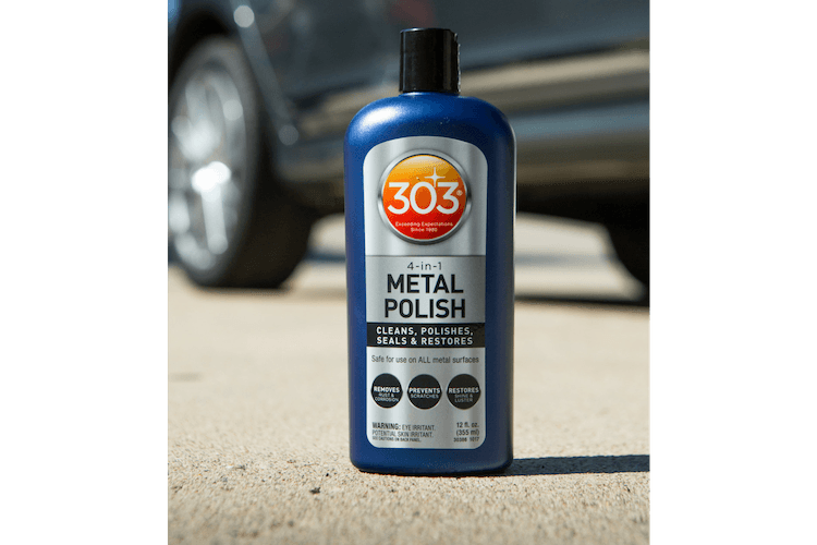 If you want the metal around your home and car to look more polished and get the protection it needs, you need 303 4-in-1 Metal Polish.