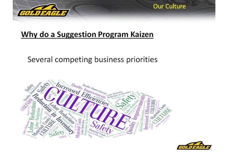 Why do a suggestion program Kaizen
