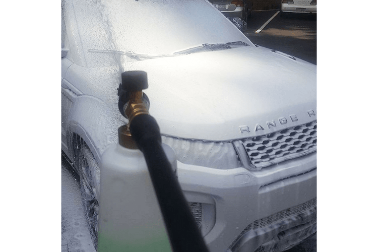 One of the best professional detailing supplies is the TriNova Foam Cannon.