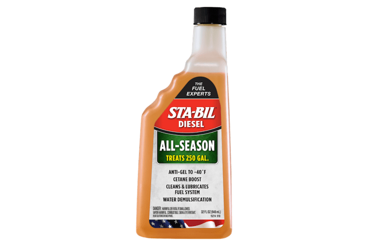 Diesel motors need fuel additives just like any other motor – STA-BIL Diesel All Season is the perfect additive for diesel.