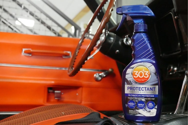 Automotive UV damage is impossible to avoid, but 303 Automotive Protectant will help protect your vehicle's surfaces.