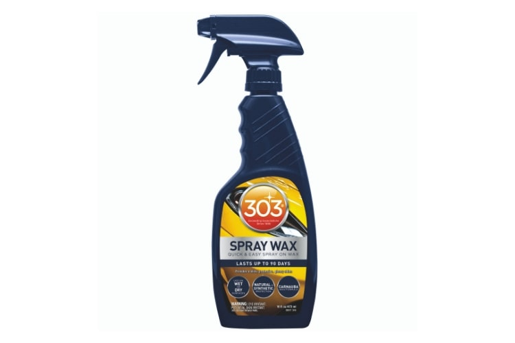 303 Automotive Spray Wax is recommended because it's fast and easy to apply, giving your car a shine you can be proud of in just minutes.
