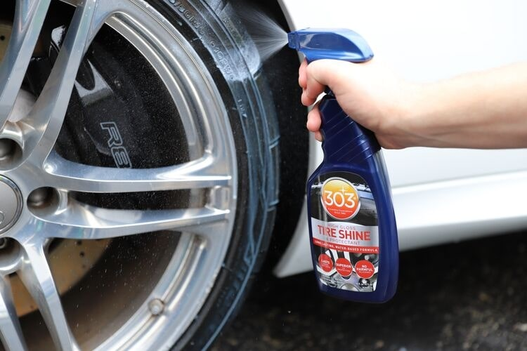 Get a glossy tire finish with 303 Tire Shine.