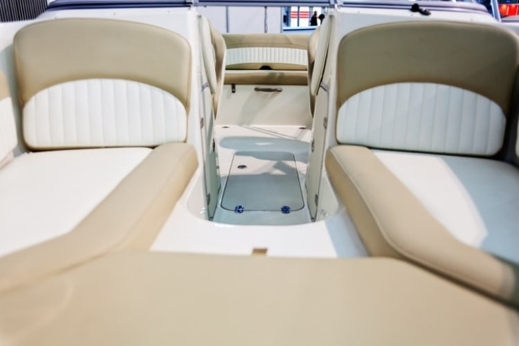Using bleach on vinyl boat seats could actually end up damaging and drying out the vinyl material.