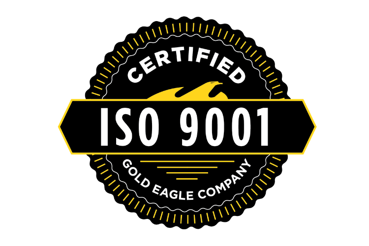 Gold Eagle Company ISO900:2015 Registered Firm Logo