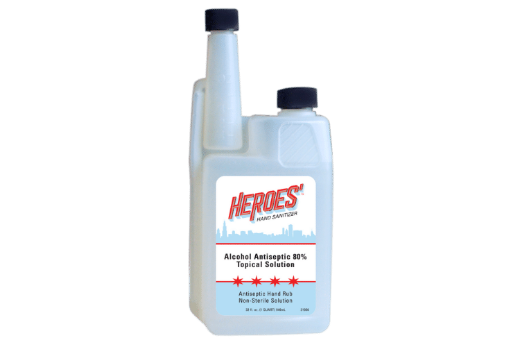21006 heroes' hand sanitizing rub 32oz