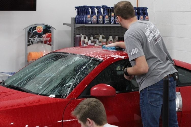 nissan 350z being washed min