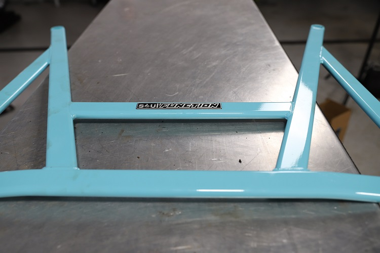 chassis bracing on bench 2 min