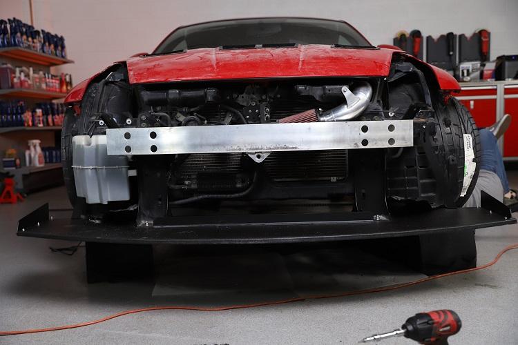 front splitter installed straight on min
