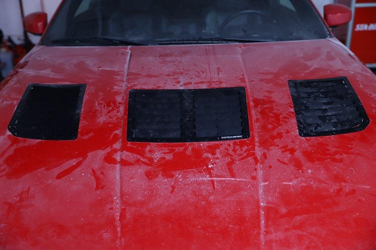 hood vents installed after rivets 2 min