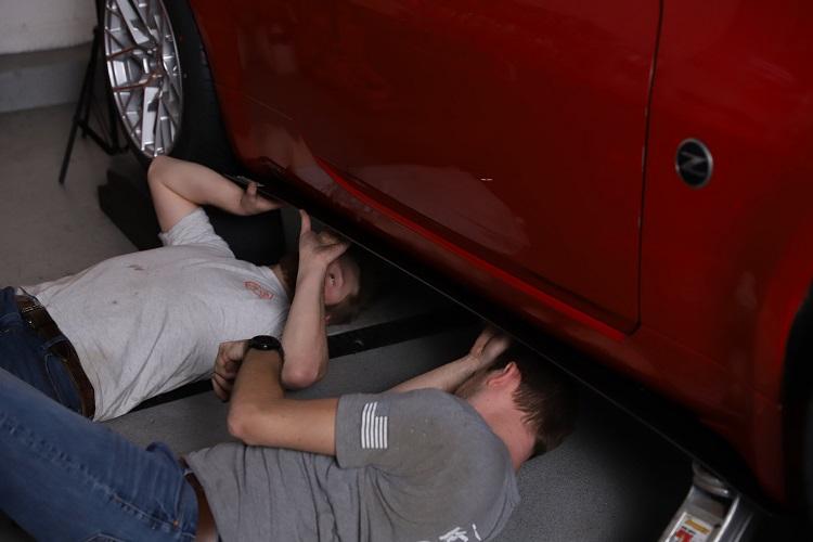 installing passenger side splitter min