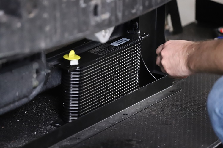 oil cooler in place min