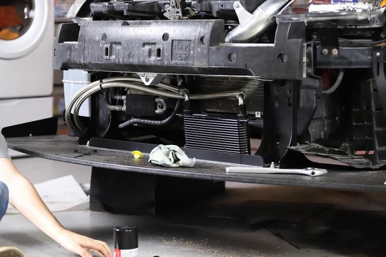 oil cooler installed min