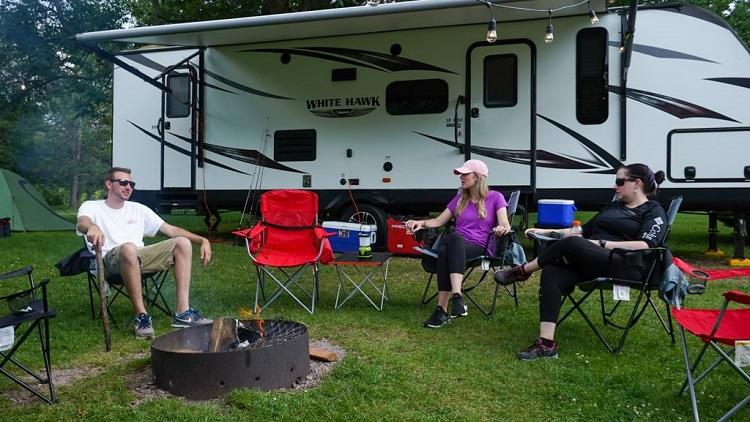 Campers Around Campfire min